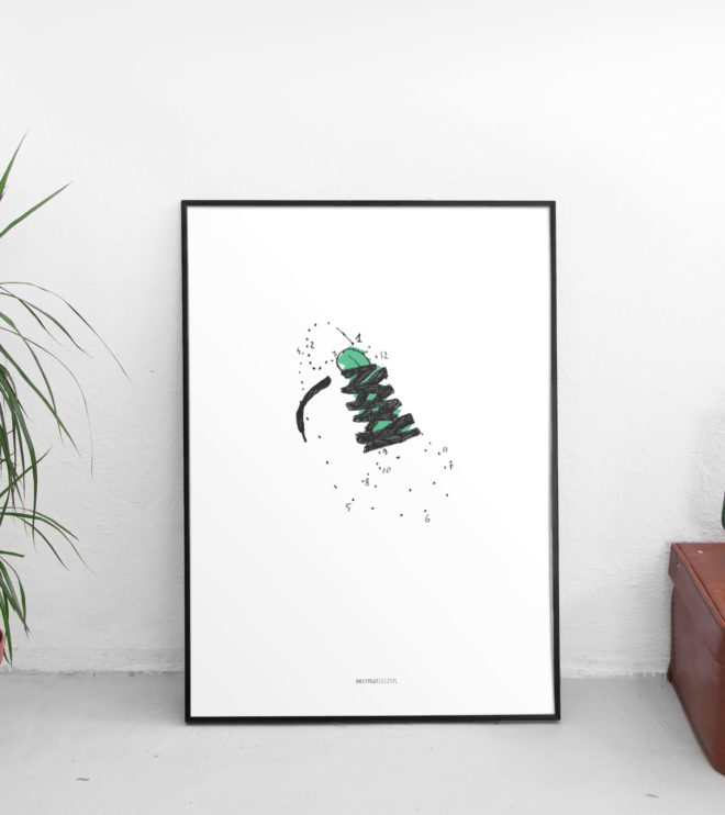 Połącz kropki - brzydkie rzeczy, minimalistyczny plakat na ścianę