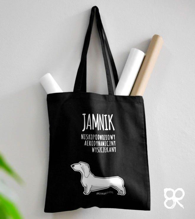 Jamnik - torba z nadrukiem czarna