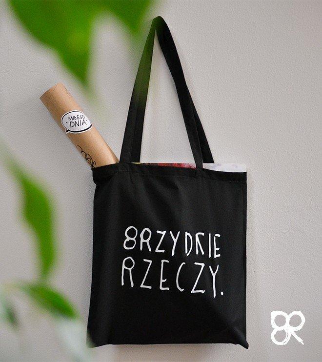 Brzydkie Rzeczy - Torba z nadrukiem czarna