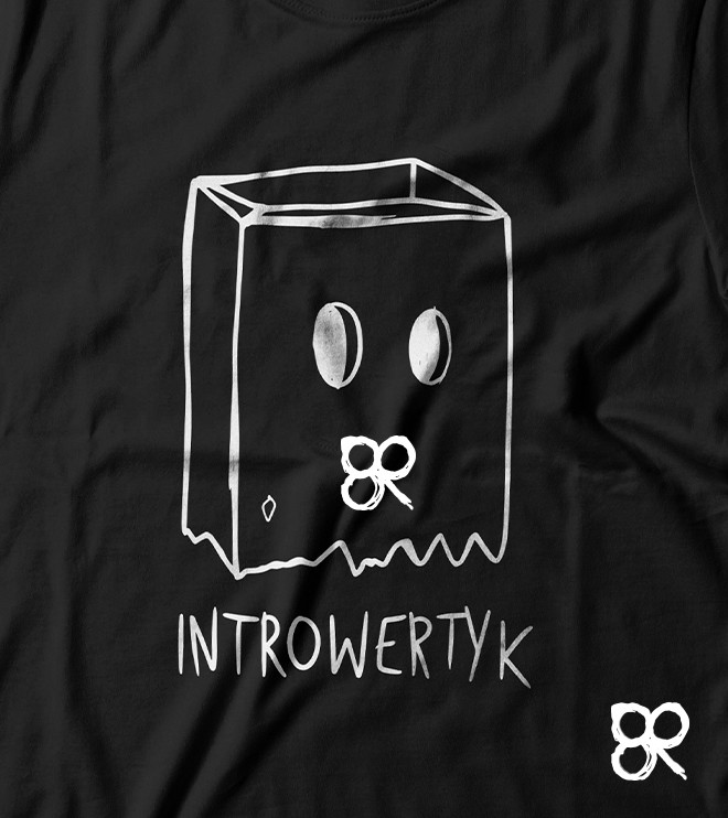 Koszulka INTROWERTYK z nadrukiem