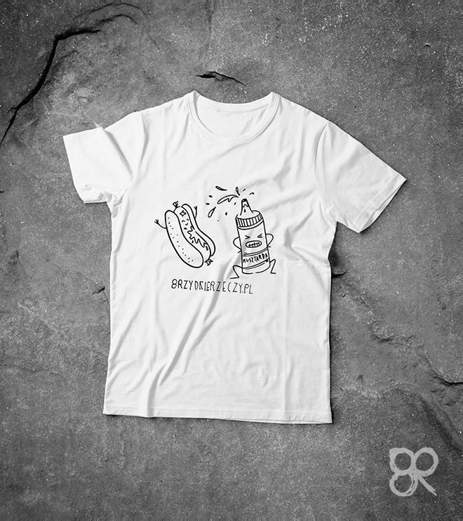 Koszulka MUSZTARDA z nadrukiem